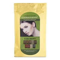 Color By Nature Lustrous Henna Dark Brown - 100 Grams